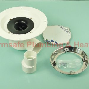 Hamer CHS/CH Horizontal ABS Shower Drain & Mirror Finish Cap