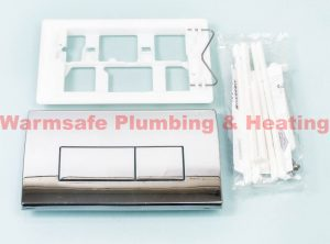 Geberit Kappa 115.260.21.1 dual flush actuator plate Gloss Chrome