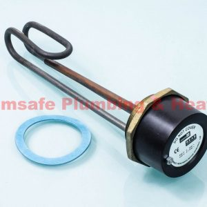 Center 181302 Incoloy immersion heater and radiator thermostat 11""