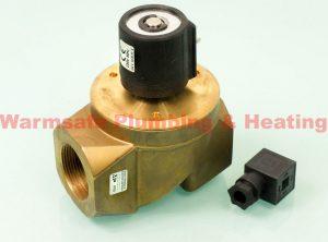 """Black Teknigas 3006230V GP solenoid valve 1 1/2"""" 230v"""