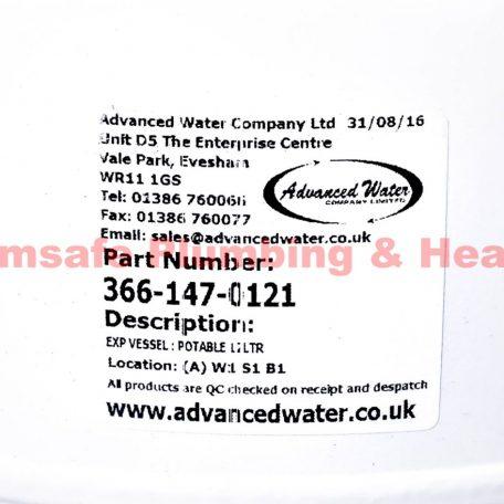 Advanced Water 366-147-0121 potable expansion vessel 12ltr