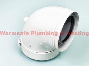 baxi 5136162 87 degree flue elbow 100/150mm