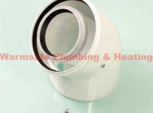 Worcester Greenstar 7719003665 45deg high efficiency elbow 125mm White