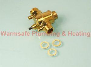 Worcester Bosch 87161087220 diverter valve body assembly