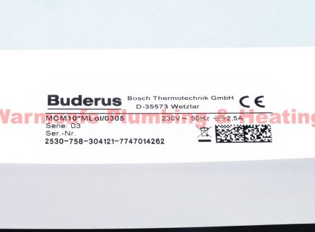 Buderus 7746900847 MCM10 Control Module
