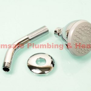 Center (CB) small modern shower rose and arm D01419