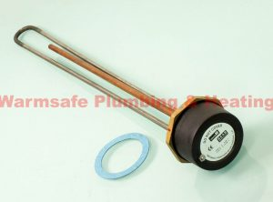 "Center Incoloy immersion heater and radiator thermostat 27"" 181303"