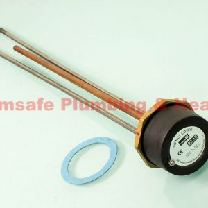 """Center Incoloy immersion heater and radiator thermostat 27"""" 181303"""