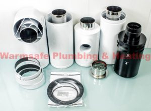 Grant HLK0290200 high level balanced flue adjustable flue kit (for 26 70KW boilers) 1.2mtr