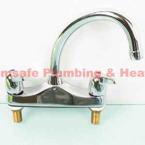 Perfomance Pegler Yorkshire L522 deck sink mixer tap Chrome Plated
