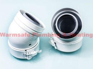 Remeha MG410083248 45Deg Bend Comes With Seals 60/100mm White