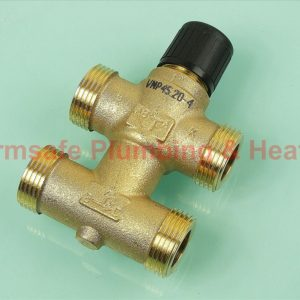 Siemens VMP45.20-4 3-port seat valve with bypass, external thread, PN16, DN20, kvs 4
