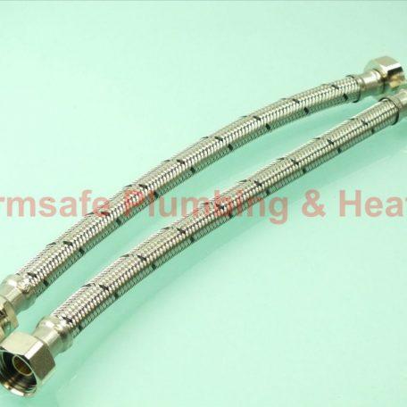 2 x Flexible Tap Connectors 15mm x 300mm Flexi