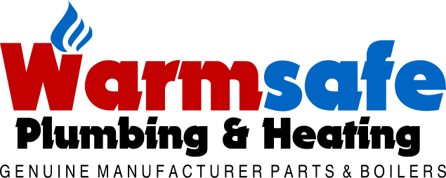warmsafe plumbing and heating banner logo