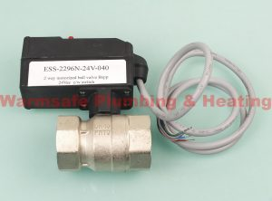esbe ess 2296n 24v 040 2 way valve and actuator 1 1 2 inch 24v