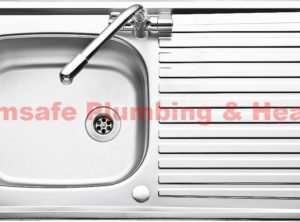 leisure linear lr950 tc wm 1 bowl reversible sink and tap stainless steel