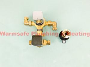 bristan cob shcdiv c cobalt recessed thermostatic dual control shower valve