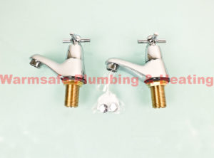 ideal standard b9859aa elements bath pillar taps chromium plated