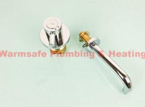 armitage shanks s7422aa contour basin mixer chrome mk2 150mm spout