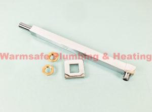 bristan armwasq01c square wall fed shower arm chrmoe plated brass 330mm