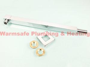 bristan armwasq01c 330mm wall fed shower arm chrome plated brass 1