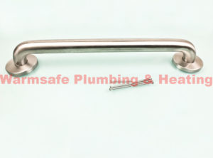 croydex qa103641 professional wall mounted medium hand rail chrome 1