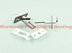 baxi-242490 electrodes kit (pack of 2) spares 1