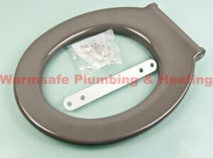 twyford avalon av7886gy toilet seat ring bar hinge top fix -grey 1
